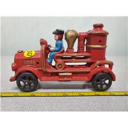 "Cast iron fire engine7"" long"