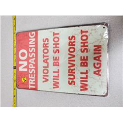 "12"" X 8"" Reproduction tin signs"