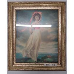 Vintage Framed Picture - 21 x 25
