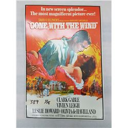 Gone With The Wind Tin Sign - Embossed