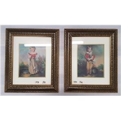 2 Framed Pictures 15 x18in