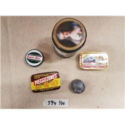 Lot Vintage Tins & Contents