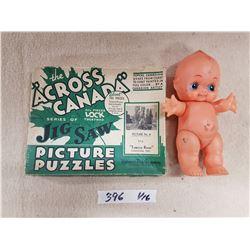 Vintage Hudsons Bay Puzzle & Doll