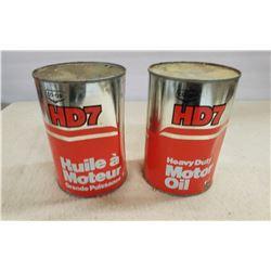 2 Tins (full) HD7 Motor Oil