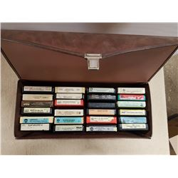 8 Track Tapes & Case