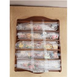 Display Shelf & Collectible Figurines - 17x13in