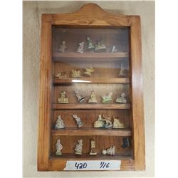 Display Case & Wade Tea Ornaments - 17x11in