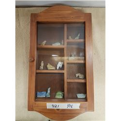 Display Case & Wade Tea Ornaments - 12x22in