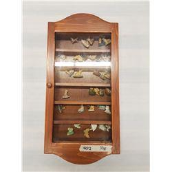 Display Case & Wade Tea Ornaments - 25x12in