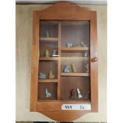 Display Case & Wade Tea Ornaments - 22x12in