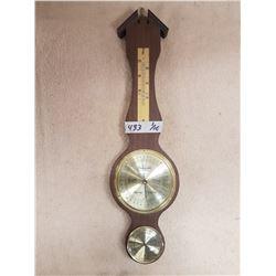 Vintage Thermometer & Barometer