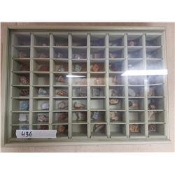 Display case & Wade Tea Ornaments - 15x20in