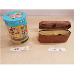 Looney Tunes Tin & Container of Marbles