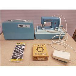 Vintage Sewing Machine & Sewing Items