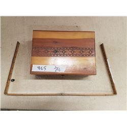 Vintage Wooden Box & Folding Ruler