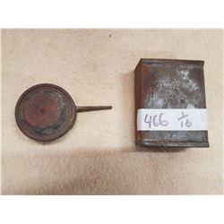 1944 Tin Can & Small Bellon