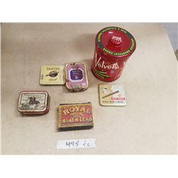 Lot Tobacco Tins & Stove Polish
