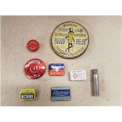 Lot Vintage Tins