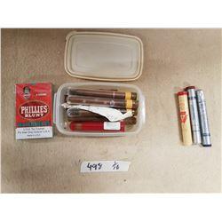 Lot Vintage Cigars & Cigar Tubes