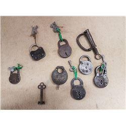 Antique Locks - Most with Keys