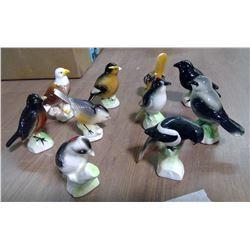 Lot of 10 Ceramic Birds - 3in x 2in
