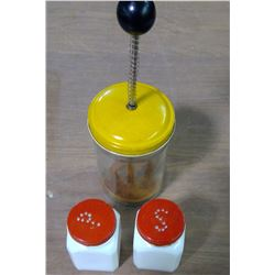 Old-Fashion Kitchen Chopper & S&P Shakers