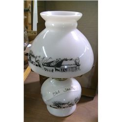 Vintage Currier & Ives Oil Lamp