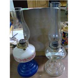 Vintage Rayo Oil Lamp & Glass Oil Lamp
