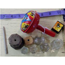 Knobs & Vintage Toy (Glass Knobs)