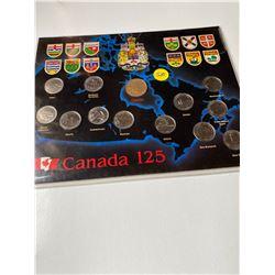 1992 (1867) Canadian 25 cent 25¢ provincial confederation 125th