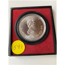 1976 proof Montreal Olympiade Kingston five dollar silver