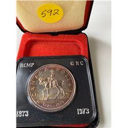 1973 (1873) Canada RCMP Silver dollar