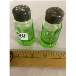 Depression Glass Salt & Pepper