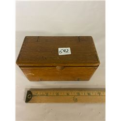 OAK Sewing Box & Contents