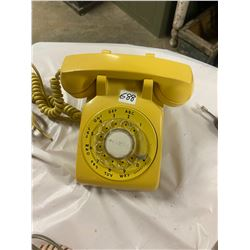 Dial Vintage Telephone - Yellow