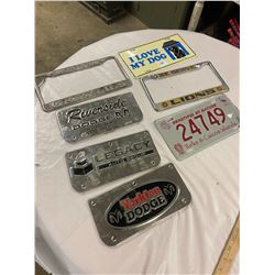 Lot Licence Plates & Toppers