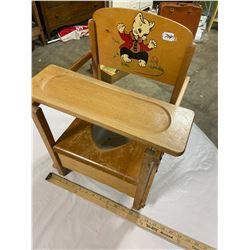 Maple - Childs Pottie Chair & Enamel Chamber Pot