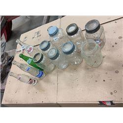 Lot 5 Nabob Jars , 5 Pop Bottles , 3 Sealers