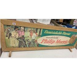 Philip Morris Cardboard Tobaccxo Sign
