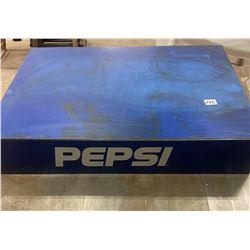 "Metal Pepsi Stand 22""W x 4""H x 16"" D"