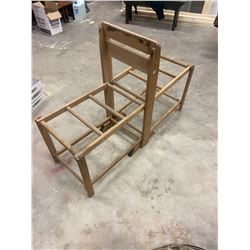 Primitive Double Wash Tub Stand - Folds Up