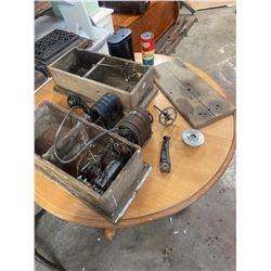 2 - Lony Box Oak Telephone Parts & Pieces
