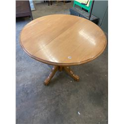 """round maple pedestal dining table 40"""" dia"""