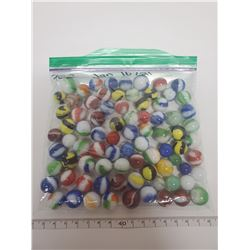 bag of marbles, approx 100 in bag