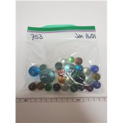 lot of glass marbles