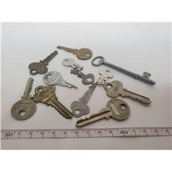 Old keys including skeleton key