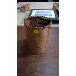 """Birch Bark Basket (Diameter: 5.5"""")"""