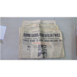 (2) Toronto Star (1) Star Weekly - WWII Coverage
