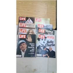 (8) Life Magazines 1970-72 (some ads cut out)