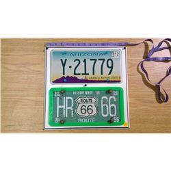 2 American License Plates